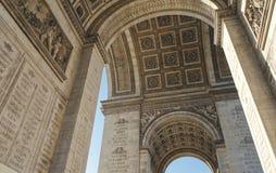 Opinião interior de Arco do Triunfo imagens de stock