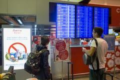 Opinião interior Don Mueang International Airport Imagem de Stock