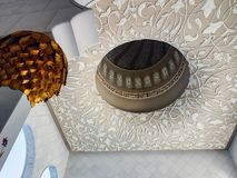 Opinião interior Sheikh Zayed Mosque, Abu Dhabi, UAE Foto de Stock Royalty Free
