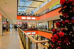 Opinião interna schopping do centro da casa de Vilnius Ozas Fotos de Stock Royalty Free