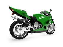 Opinião isolada da parte traseira da motocicleta ilustração royalty free