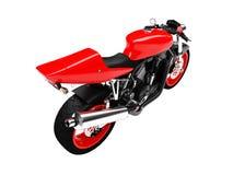 Opinião isolada da parte traseira da motocicleta ilustração stock