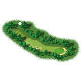 Opinião isométrica aérea do furo do campo de golfe do vetor ilustração royalty free