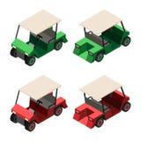 Opinião isométrica do carrinho de golfe ilustração stock