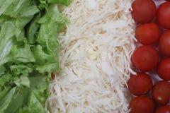 Opinião italiana do fim do alimento da bandeira Fotos de Stock