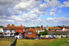Opinião Kent Reino Unido da cidade de Dymchurch imagens de stock
