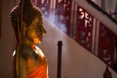 Opinião lateral buddha imagem de stock