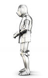 Opinião lateral da armadura isolada no fundo branco rendição 3d Imagens de Stock