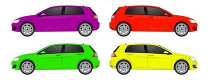Opinião lateral da arte realística super do carro Automóvel genérico ilustração royalty free
