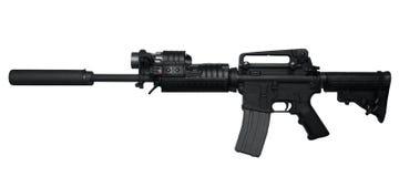 Opinião lateral da espingarda de assalto AR-15 Fotos de Stock