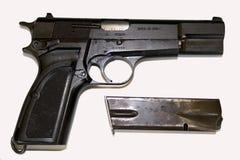 Opinião lateral da pistola fotografia de stock royalty free