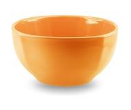 Opinião lateral da placa do prato da esfera no fundo branco Foto de Stock Royalty Free