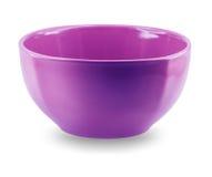 Opinião lateral da placa do prato da esfera no fundo branco Foto de Stock