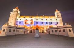 Opinião lateral de Bratislava Castle Fotos de Stock Royalty Free