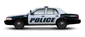 Opinião lateral de carro de polícia fotos de stock royalty free
