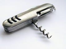 Opinião lateral de faca de bolso Fotos de Stock