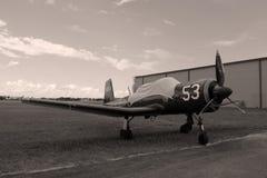 Opinião lateral do avião de combate chinês velho fotos de stock royalty free