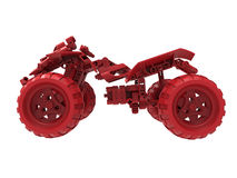 Opinião lateral do carro do brinquedo ilustração royalty free
