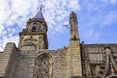 Opinião lateral do fundo da fachada da catedral do San Salvador em Jerez de la Frontera, Espanha Foto de Stock