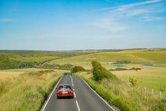 Opinião lateral do país bonito em torno de Sussex ocidental fotos de stock