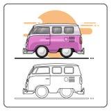 Opinião lateral dos carros do verão ilustração stock