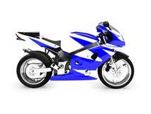 Opinião lateral isolada da motocicleta ilustração royalty free