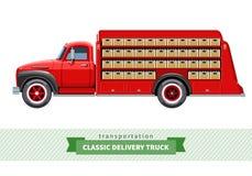 Opinião lateral média clássica de caminhão de entrega do dever ilustração stock