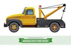 Opinião lateral média clássica de caminhão de reboque do dever ilustração stock