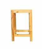 Opinião lateral quadrada de tamborete de madeira de Brown Fotografia de Stock
