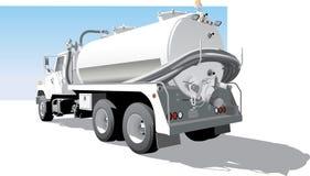 Opinião lateral traseira do caminhão da bomba ilustração stock