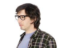 Geekster preocupado Fotos de Stock Royalty Free