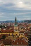 Opinião Lesser Town de Hradcany Fotos de Stock
