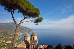 Opinião litoral de Amalfi Imagem de Stock