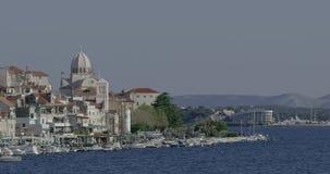Opinião litoral de Sibenik vídeos de arquivo