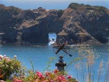 Opinião litoral do norte de Califórnia Fotografia de Stock
