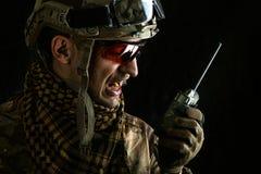 Opinião macro o militar Foto de Stock