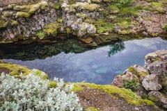 Opinião maravilhosa da paisagem do parque nacional de Pingvellir imagens de stock royalty free