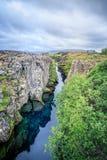 Opinião maravilhosa da paisagem do parque nacional de Pingvellir imagem de stock