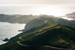 Opinião Marin Headlands de Hawk Hill Imagem de Stock Royalty Free