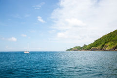 Opinião Maya Bay, ilha de Phi Phi, Tailândia, Phuket Foto de Stock