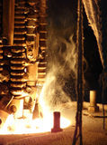 Opinião metalúrgica do close-up do processo Fotos de Stock Royalty Free
