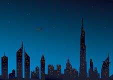 Opinião moderna de Dubai Fotografia de Stock Royalty Free
