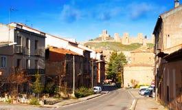 Opinião Molina de Aragon com castelo Fotos de Stock