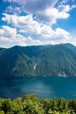Opinião Monte Generoso como visto de Mont Bre Switzerland foto de stock