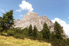 Opinião Monte Pelmo, cumes do europeu de Italien Fotografia de Stock Royalty Free