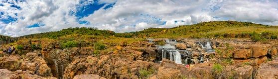 Opinião na garganta do rio de Blyde, caldeirões do panorama da sorte do ½ s do ¿ de Bourkeï fotos de stock royalty free