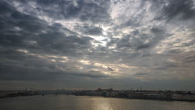 Opinião Neva River In Saint Petersburg vídeos de arquivo