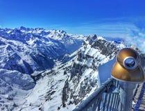 Opinião nevado da paisagem do inverno Fotos de Stock