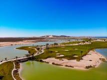 A opinião Nicklaus projetou Islas Del Mar Golf Course foto de stock royalty free