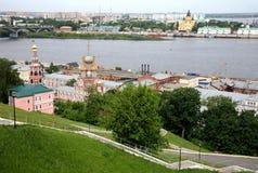 Opinião Nizhny Novgorod da mola de maio Fotografia de Stock Royalty Free